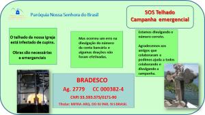 Correção do Número da Conta da Campanha SOS Telhado